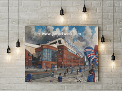 ibrox going to the match canvas a2size